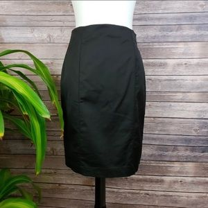 Ann Taylor Black Pencil Skirt Size 4P